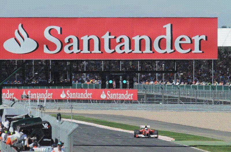 Banco santander patrocinar el gp de espa a de f1 for Sucursales banco santander en roma italia