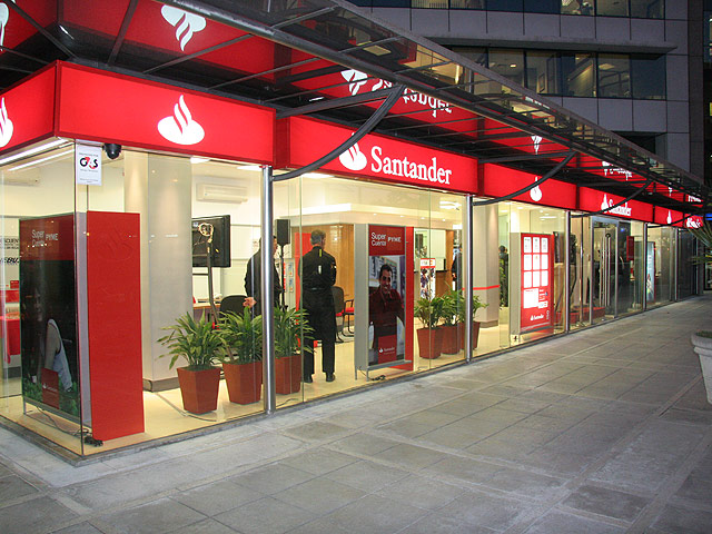 banco santander ingresos