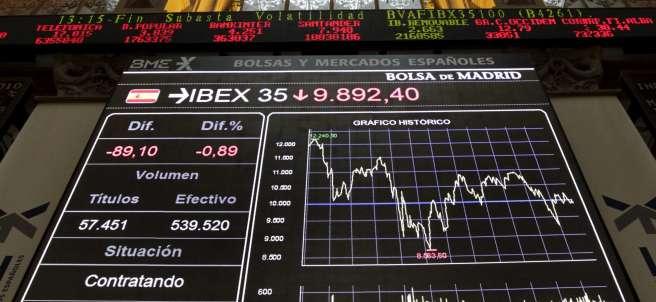 Fuerte rebote del 2,39% en la Bolsa de Madrid
