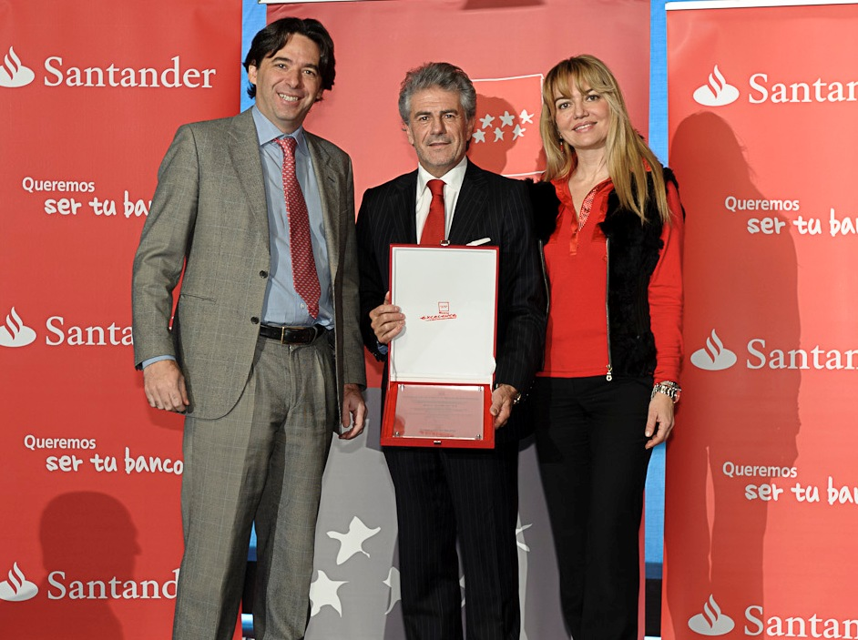 banco santander sello madrid excelente