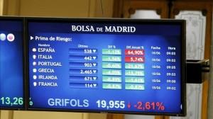 La prima de riesgo española cae a mínimos desde el 2011