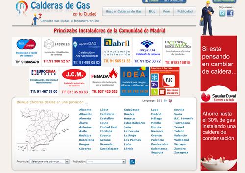 instaladores de la plataforma calderas de gas en tu ciudad
