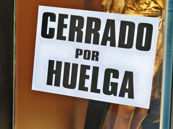 Más de un millón de jornadas perdidas por huelgas en 2012