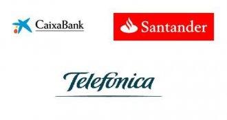 Banco Santander, Telefónica y Caixabank acuerdan una alianza digital