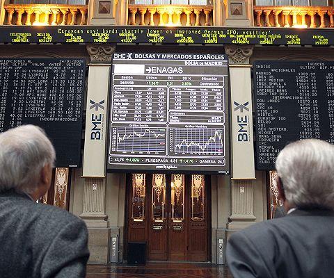 El Ibex cede un 0,31% a media sesión
