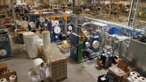 Fuerte caída de la producción industrial