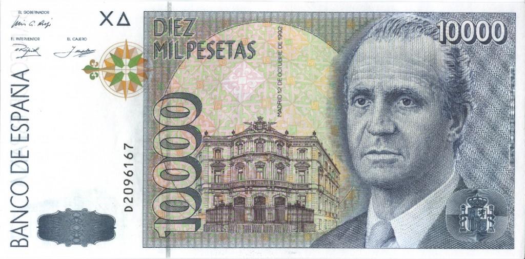 Los españoles conservan 1.677 millones de euros en pesetas