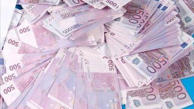 La ciantidad de billetes de 500 euros se reduce