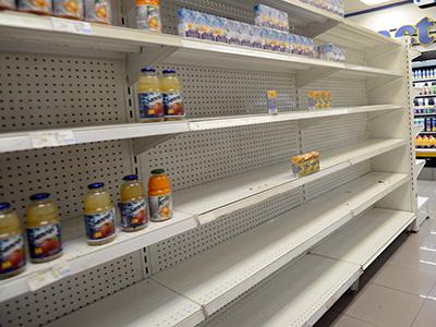 La escasez en Venezuela llega al 29,8%