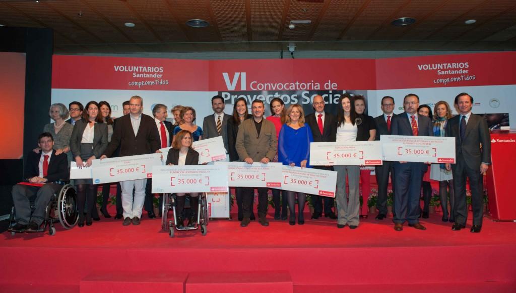 Javier Marín entrega los premios Proyectos Sociales de Banco Santander