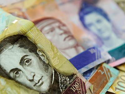 El salario mínimo cae en Venezuela