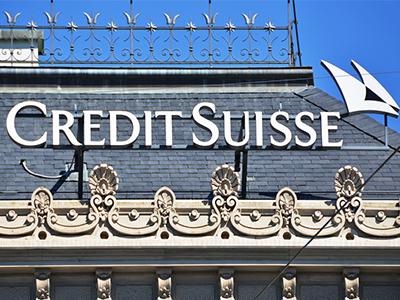 Credit Suisse gana un 34% menos