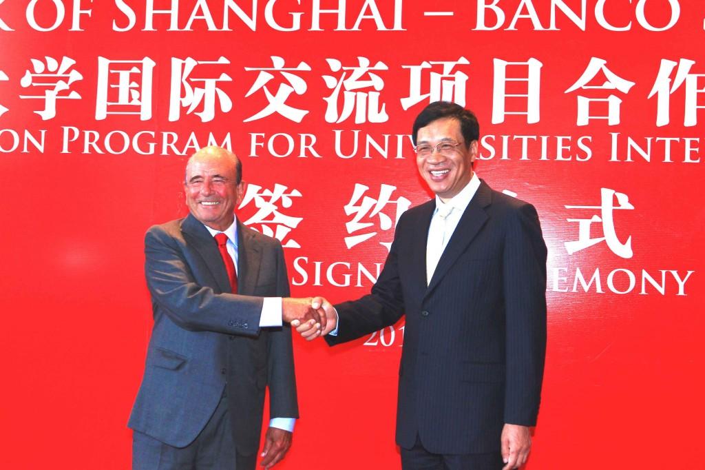 Emilio Botín refuerza la colaboración entre Santander y Bank of Shanghái
