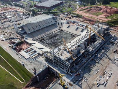 Se interrumpen las obras en el estadio mundialista de Sao Paulo