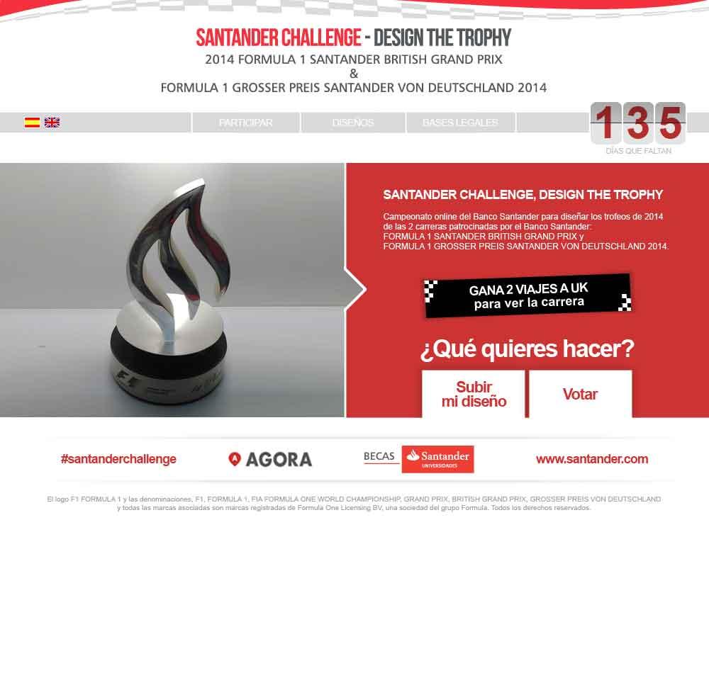 Banco Santander propone a los universitarios diseñar un trofeo de F1