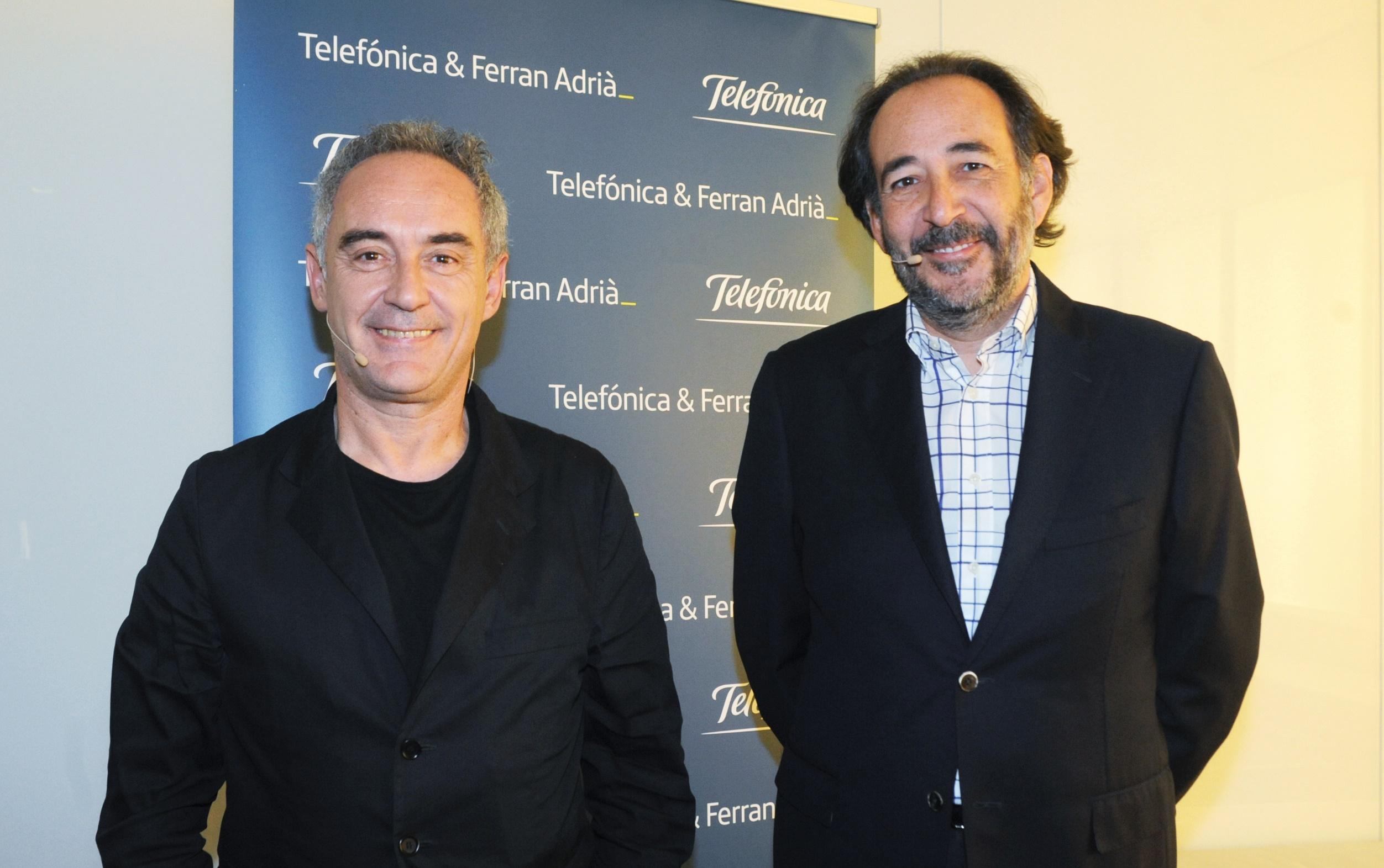 Telefonica renueva alianza con Ferran Adria1