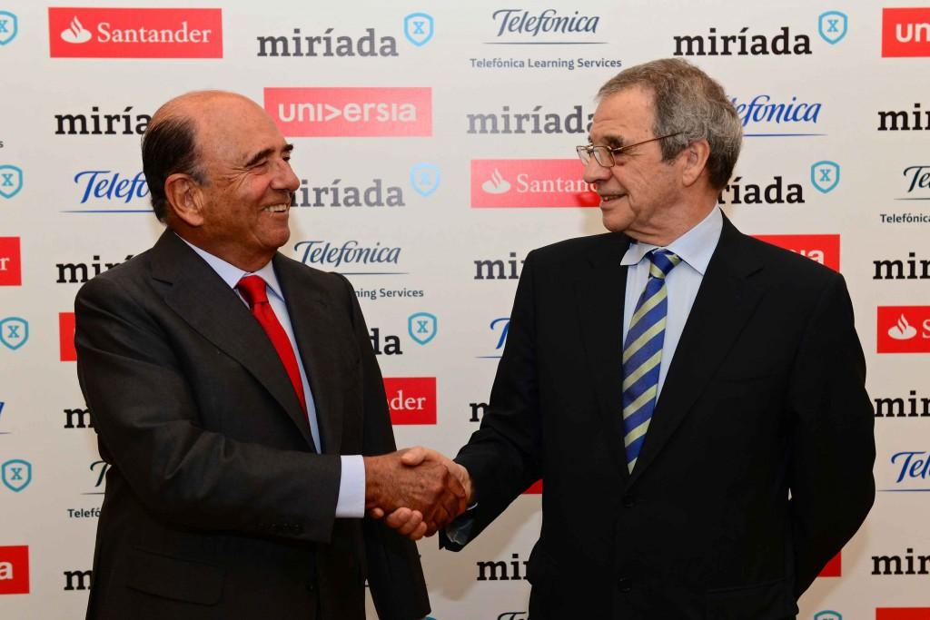 Emilio Botín y César Alierta presentan MiríadaX