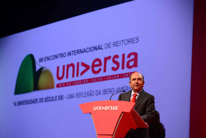 Emilio Botín preside la apertura del III Encuentro Internacional de Rectores Universia