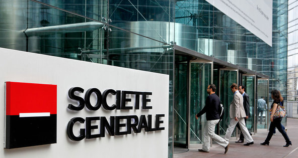 Société Générale amplía un 2% su beneficio semestral