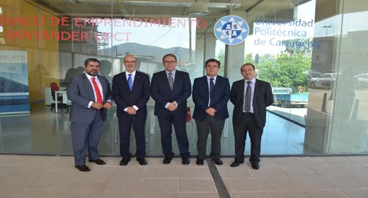 Banco Santander y la UPCT refuerzan su colaboración con la Cátedra de Emprendimiento