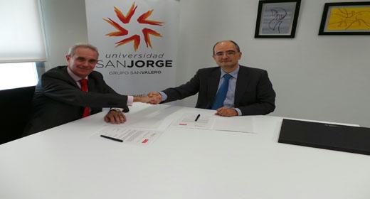 Banco Santander y la Universidad San Jorge refuerzan su convenio de becas