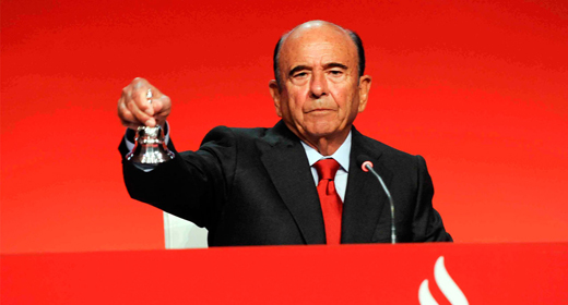 Emilio Botín, figura más relevante del empresariado español