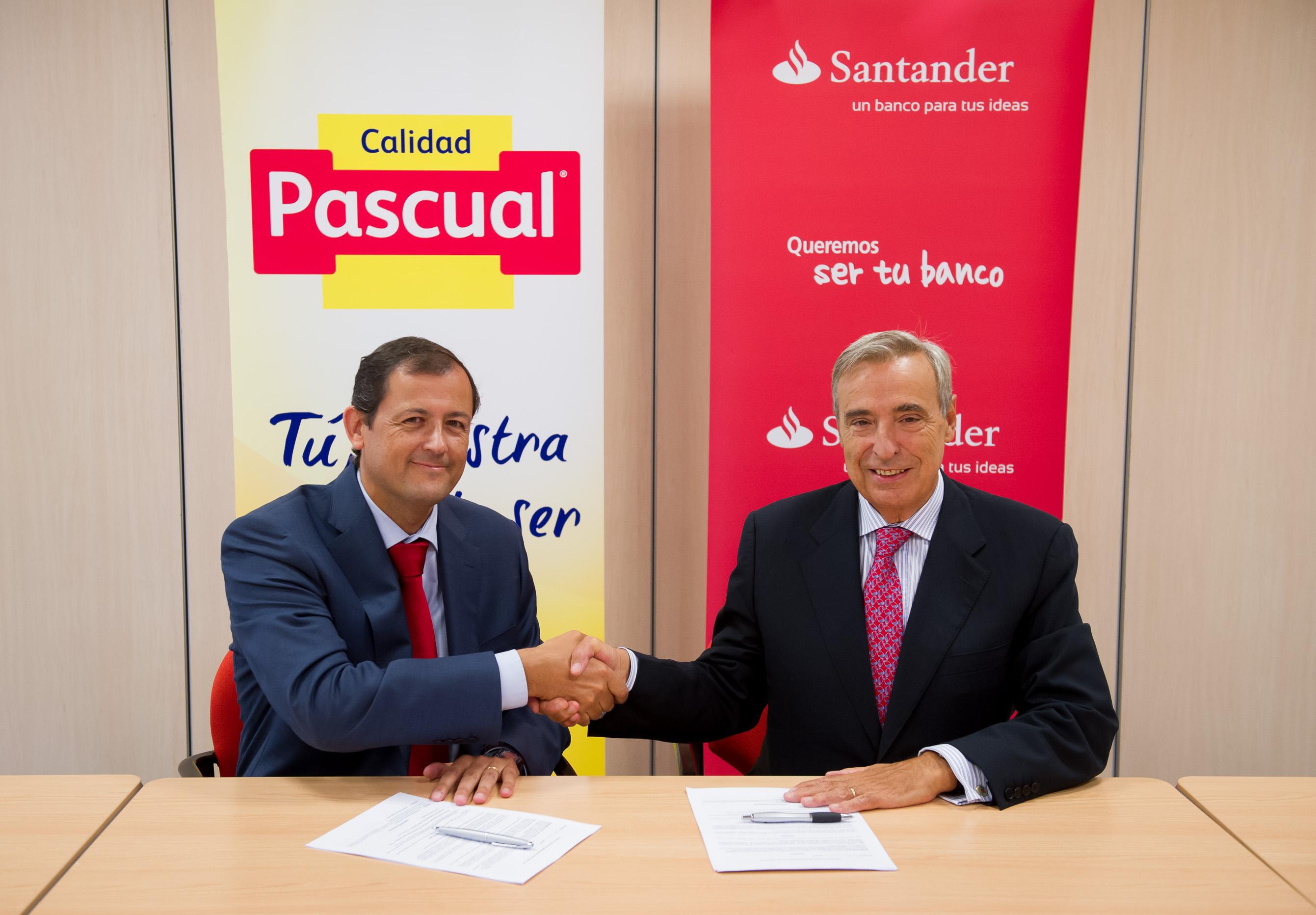 Banco Santander, proveedor oficial de renting de vehículos de Calidad Pascual