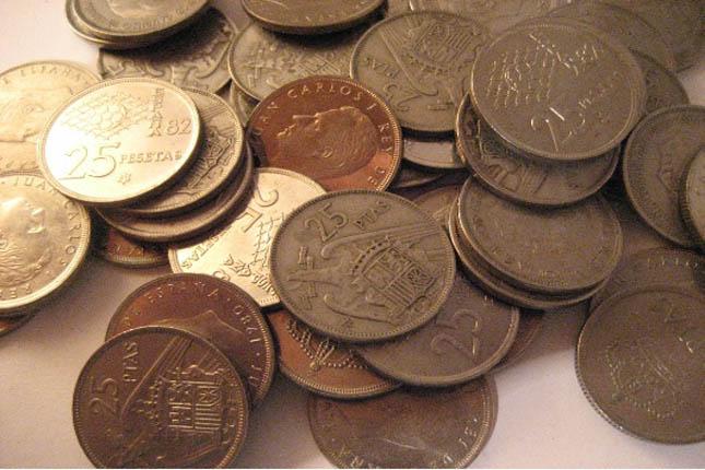 Los españoles conservan 1.605 millones de euros en pesetas