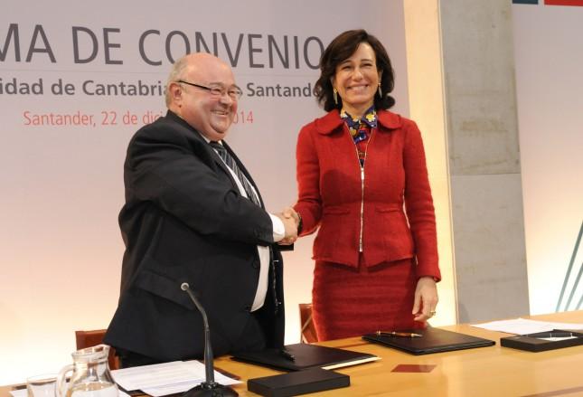 Ana Botín firma acuerdo de colaboración con la Universidad de Cantabria