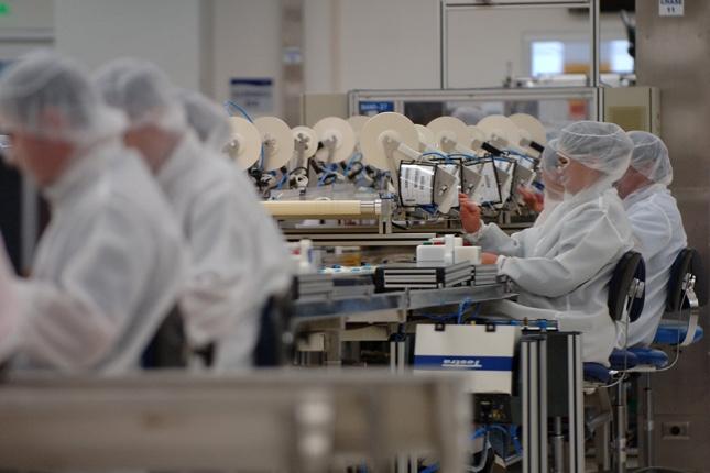 El sector manufacturero español, en recesión