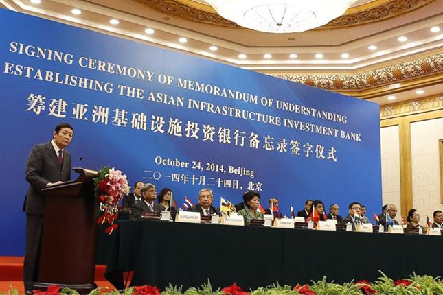 Banco Asiático de Inversión en Infraestructuras comenzará a operar a finales de 2015