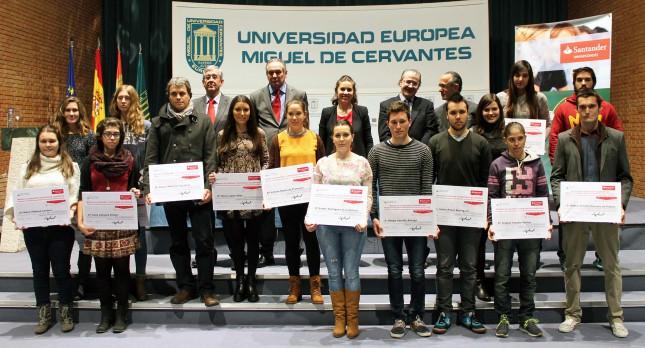 Banco Santander y Fundación UEMC entregan Becas de Excelencia