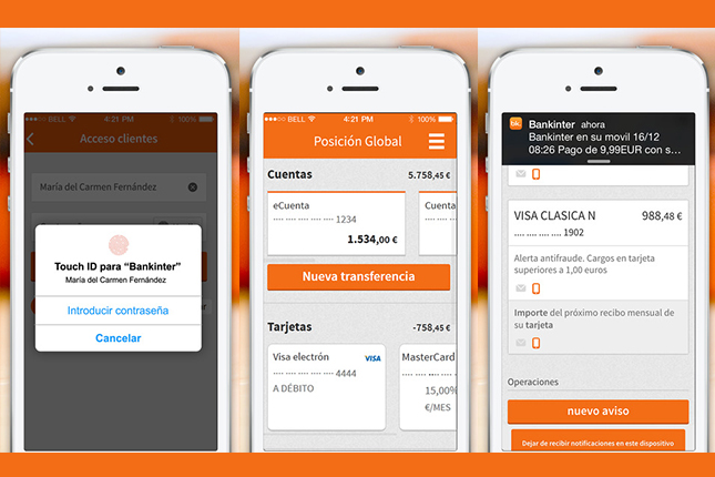 Bankinter integra la identificación por huella dactilar en su banca móvil