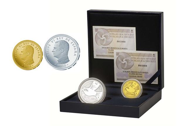 La Fábrica de la Moneda conmemora los 70 años de paz en Europa