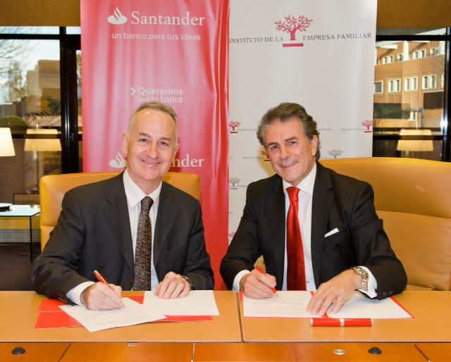 Banco Santander renueva su acuerdo con el Instituto de la Empresa Familiar