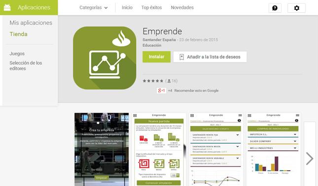 Banco Santander lanza dos Apps sobre formación y emprendimiento universitario