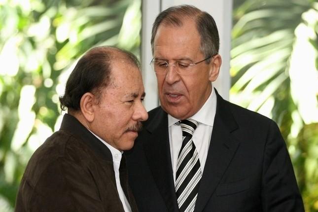 Daniel Ortega, presidente de Nicaragua, mantuvo un encuentro con el ministro de Asuntos Exteriores de Rusia, Serguéi Lavrov
