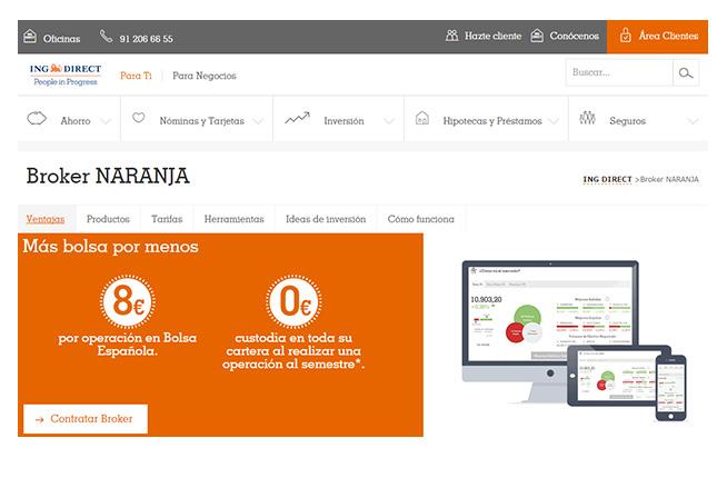 El Bróker Naranja de ING Direct disminuye sus tarifas de compraventa