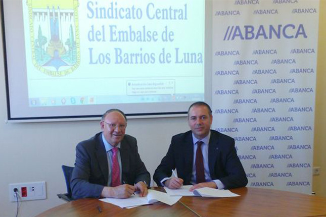 Abanca promueve el crédito para el sindicato de embalse de Barrios de Luna