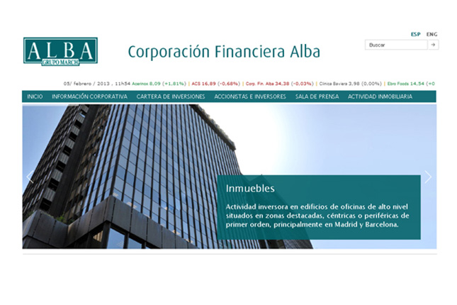 Corporación Financiera Alba obtiene 137,6 millones hasta marzo