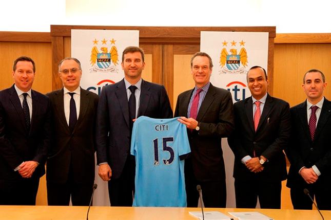 Citi firma convenio de patrocinio con el Manchester City