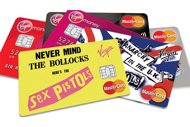 Tarjetas de crédito de Virgin Money, promocionadas por los Sex Pistols