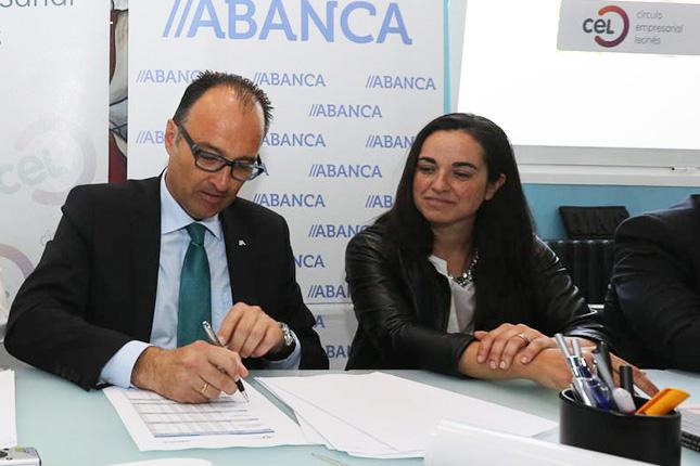 Abanca firma un convenio con el Círculo Empresarial Leonés