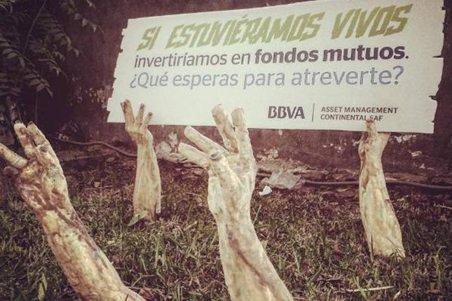 BBVA Continental promueve los fondos mutuos mediante microobras de terror