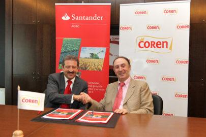 Banco Santander firma acuerdo con el Grupo Coren