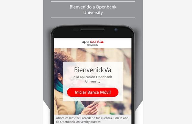 Banco Santander lanza la aplicación 'Openbank University'