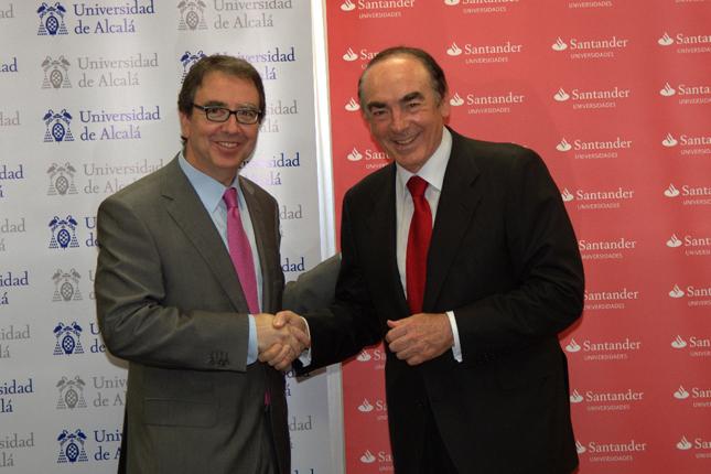 Banco Santander y la UAH apoyan la internacionalización, el emprendimiento y el compromiso social