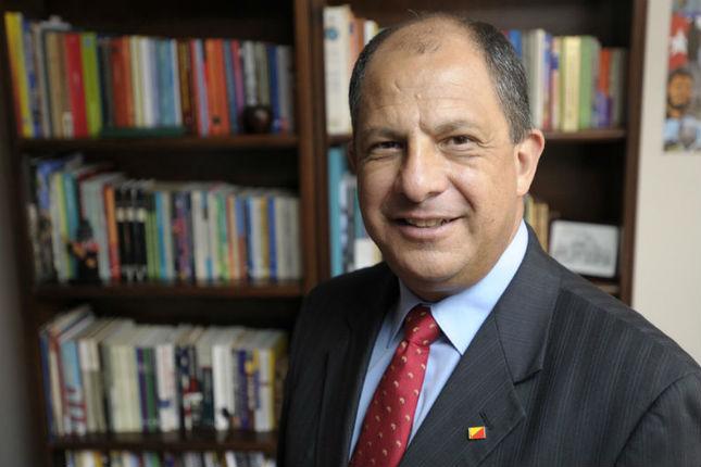 presidente de Costa Rica, Luis Guillermo Solís