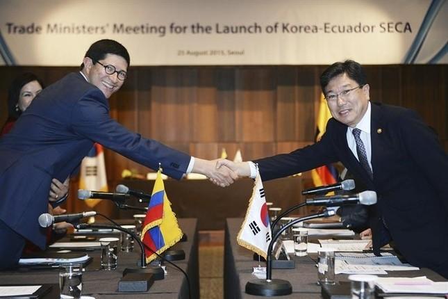 Ecuador y Corea del Sur inician las negociaciones para un acuerdo comercial