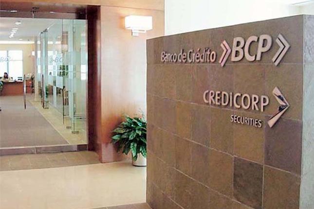 Credicorp obtiene beneficios por 121 millones en el segundo trimestre